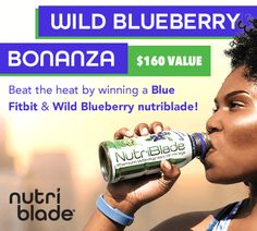 Win Blue Fitbit & Wild Blueberry nutriblade  http://virl.io/PsYRUMGN