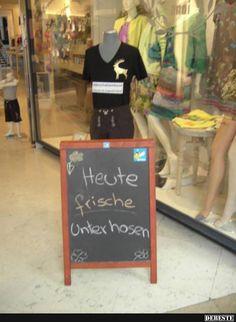 Heute frische Unterhosen.. | Lustige Bilder, Sprüche, Witze, echt lustig