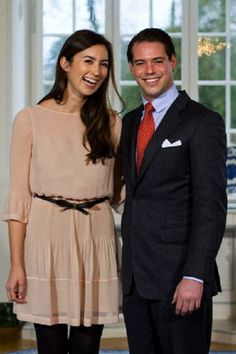 Prince Felix of Luxembourg and his fiance, German Claire Lademacher, pose in Colmar, 27 Dec 2012