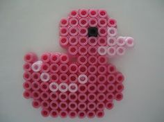 Pink Rubber Ducky by PerlerHime