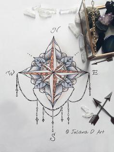 Compass mandala on etsy by jrizzybabbyxoxo https://www.etsy.com/listing/203994297/compass-mandala #compassmandala