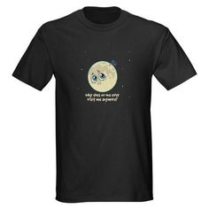 I Love Science Store T-Shirts Science Swag & Science Geek Humor  | Sad Moon Men's T-Shirt