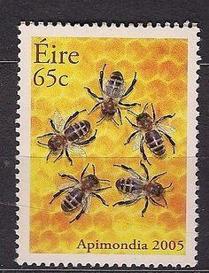 Irish bee postage stamp