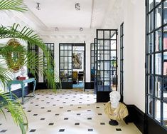 A stunning transformation of what was once shabby offices into this glamorous family home in Madrid, designed by Spanish interior designer Soledad Suárez de Lezo.