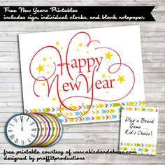 New Years Eve Countdown Bags {Free Printables} -