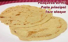 Panqueca sem farelos - Receitas Dukan #receitas #receitasdukan #panquecas