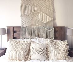 Macrame pillow collection by Amy Zwikel Studio