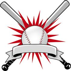 Baseball Clipart Image: Baseball Sports Logo with Two Bats and a Ball Baseball Crafts, Baseball Art, Sports Baseball, Buy Basketball, Basketball Shooting, Baseball Photos, Baseball Helmet, Baseball Uniforms, Baseball Shirts