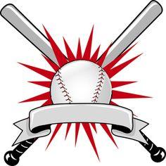 baseball clip art sports clip art of a baseball bat and ball with rh pinterest com baseball bat logo Baseball Bat Shield