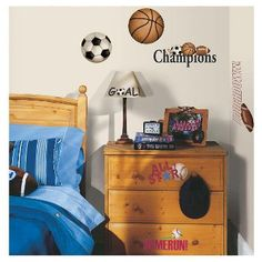 RoomMates Sports Ball Peel U0026 Stick Wall Decals At Menards