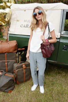 At the Mulberry Wilderness Picnic in Oxford. See all of Cara Delevingne's best looks.
