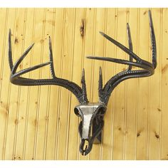 Do - All Outdoors® Steel Whitetail Wall - mountable Sculpture - Decorative Accessories at Sportsman& Guide Welding Art Projects, Recycled Art Projects, Metal Art Projects, Metal Crafts, Metal Fab, Metal Art Sculpture, Forging Metal, Steel Art, Horseshoe Art