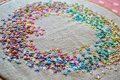 Too Cute Tuesday - Cross stitch circle by Pumora - Mr X Stitch