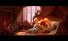 Lisa Keene! early Tangled/Rapunzel concept illustration
