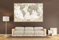 Push Pin World Map №866