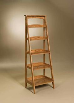 You'll save on every piece of furniture at Amish Outlet Store! We custom make every item, and you can get the Ladder Shelf in Cherry with any wood and stain. Amish Furniture, Handmade Furniture, Diy Furniture, Furniture Outlet, Ladder Shelf Decor, Wood Ladder, Ladder Bookshelf, Woodworking Patterns, Woodworking Plans