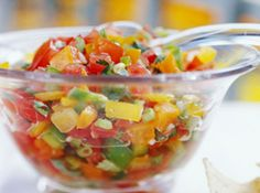 Light Fresh Picnic Recipe - Fresh Tomato Salsa: This garden-fresh salsa is hard to beat -- and you can make it up to three days ahead. Diabetic Side Dishes, Diabetic Recipes For Dinner, Mexican Food Recipes, Great Recipes, Favorite Recipes, Easy Recipes, Healthy Recipes, Dinner Recipes, Tomato Salsa Recipe