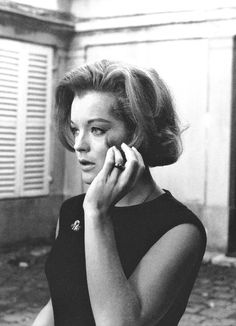 Romy Schneider photographed by Giancarlo Botti on the set of What's New Pussycat?, 1965.