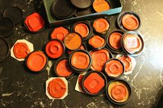 Small Collection of 19th Cent Wax Seals with Lids
