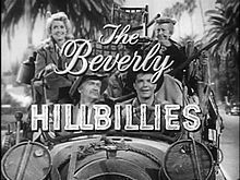 The Beverly Hillbillies - an American situation comedy originally broadcast for nine seasons on CBS from 1962 to 1971, starring - Buddy Ebsen, Irene Ryan, Donna Douglas, and Max Baer, Jr.  The series is about a poor backwoods family transplanted to Beverly Hills, California, after striking oil on their land.- wikipedia