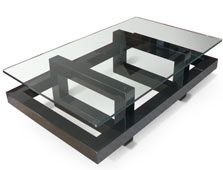 Contemporary coffee table , finished in lacquered iron Dimension: 130 x 80 x 36 cm Other colours and custom sizes available Welded Furniture, Industrial Design Furniture, Iron Furniture, Steel Furniture, Table Furniture, Glass Wood Table, Modern Glass Coffee Table, Contemporary Coffee Table, Table Inox