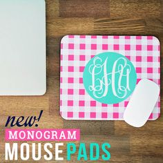 Make It Personal: Mouse Pad - Gingham Design Personalized 4 Colors