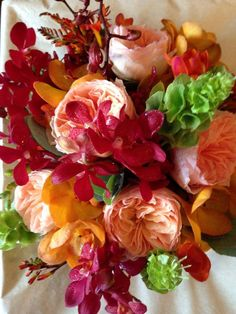 Rich summer tangerine and rhubarb shades Flower Centerpieces, Wedding Bouquets, Shades, Flowers, Summer, Summer Time, Wedding Brooch Bouquets, Bridal Bouquets, Wedding Bouquet