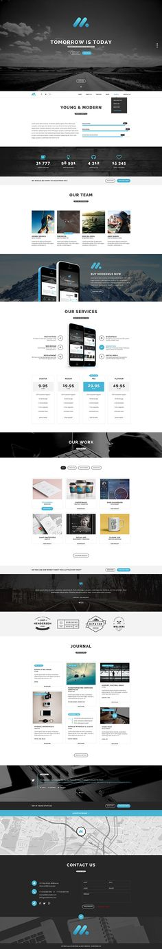 Modernus - Creative Multi-Purpose WordPress Theme on Behance
