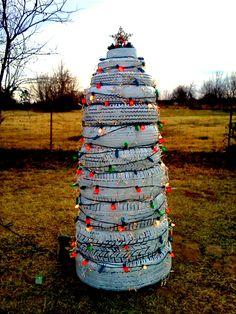 """Reclaimed"" Tire Christmas Tree        Created by nburton http://integratire.com/ https://www.facebook.com/integratireandautocentres https://twitter.com/integratire https://www.youtube.com/channel/UCITPbyTpbyNCDeEmFbYFU6Q"