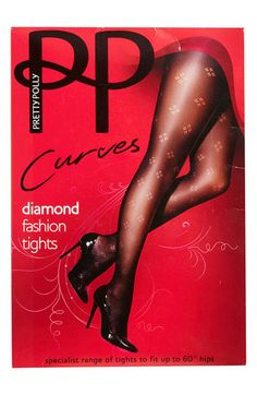 ca40723f66d786 Pretty Polly 'Curves' Dot Diamond Tights (Plus) available at #Nordstrom  Intimate
