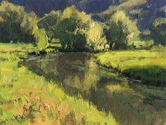 """Daily Paintworks - """"Summer Stream"""" by Bill Gallen"""