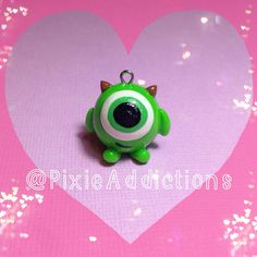 Monsters Inc. Mike Wazowski Polymer Clay Charm on Etsy, $2.47
