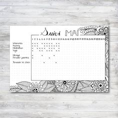 Sticker suivi Mai pour Planner et Bullet Journal par SohoHana