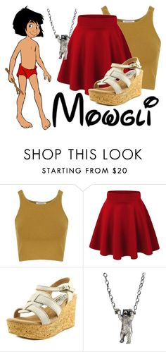 """""""Mowgli~ DisneyBound"""" by basic-disney ❤ liked on Polyvore featuring Glamorous, Sbicca and momocreatura"""