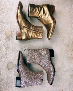 Loooove the gold/bronze pair