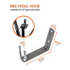 Bike Rack Pedal Hook Wall Mount Hanger Wheel Holder Display Storage Brackets MTB | eBay Bicycle Wall Hanger, Bicycle Wall Mount, Diy Bike Rack, Bicycle Rack, Garage Organization Tips, Do It Yourself Organization, Bike Wall Storage, Wall Mount Rack, Bike Pedals