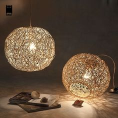 86.00$  Buy here - http://aicai.worlditems.win/all/product.php?id=32805019328 - 30/40/50cm Wicker Rattan Ball Globe Sphere Pendant Light Fixture Modern Rustic Country Hanging Lamp Avize Luminaria Dining Room