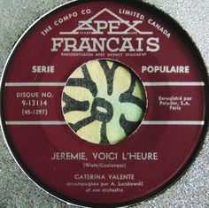POP VOCALS.....CATERINA VALENTE......JEROME VOICI L'HEURE...RARE....CAN HEAR #CLASSICROCKEASYLISTENINGROCKNROLLPOPVOCALSPOPCHANSONWORLDMUSIC