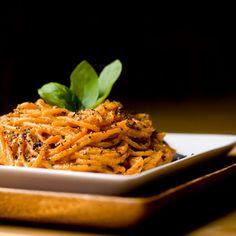 Super Quick Tomato Basil Cashew Cream Pasta Recipe. Vegan | yummly.com