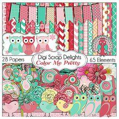 Color Me Pretty Mega Kit & Digi Scrap Freebie   Digital Scrapbooking Blog