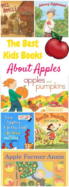 The Absolute Best Kids Books for an Apple Unit Study These are the best kids books about apples! They're perfect for a homeschool apple unit study or a preschool apple themed week! Preschool Apple Theme, Fall Preschool, Preschool Books, Book Activities, Preschool Activities, Preschool Apples, Kindergarten Apple Theme, Kindergarten Books, Preschool Classroom