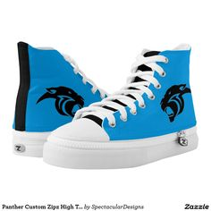 Panther Custom Zipz High Top Shoes Printed Shoes