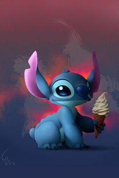Stitch and DoleWhip - Lilo & Stitch Lilo Stitch, Lilo And Stitch 2002, Lelo And Stitch, Disney Stitch, Ohana, Cute Disney, Disney Art, Walt Disney, Toothless And Stitch