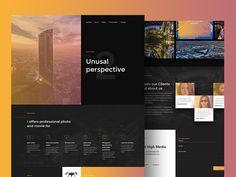 Get High Media layout by Michał Rome #Design Popular #Dribbble #shots