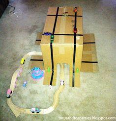 Tutus & Tea Parties: DIY Box Play for Cars, Trains...
