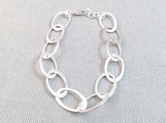 Sterling Silver Ovals Bracelet