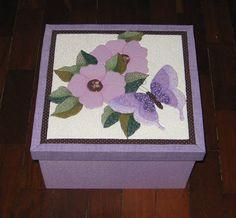 @ngela @artes: Patchwork Embutido - Caixa Floral