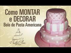 Como montar e decorar bolo de andares de pasta americana parte I_Bellbolos - YouTube