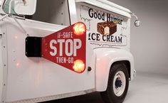 1965 Ford Good Humor Ice Cream Truck stop