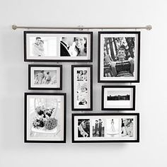 deluxe wall gallery frame Isn't this great? I would love to put it on the big wall in my living room! Gallery Frame Set, Gallery Wall Frames, Gallery Walls, Picture Wall, Picture Frames, Photowall Ideas, Modern Frames, Red Envelope, Photo Displays